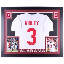 Calvin Ridley Signed Alabama Crimson Tide 35x43 Custom Framed Jersey (JSA COA)