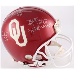 Billy Sims, Jason White  Steve Owens Signed Oklahoma Sooners Full-Size Authentic Pro-Line On-Field H