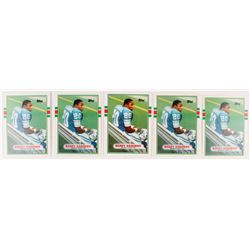 Lot of (5) 1989 Topps Traded #83T Barry Sanders RC