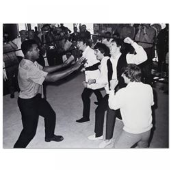Muhammad Ali Licensed 40x30 Photo with The Beatles