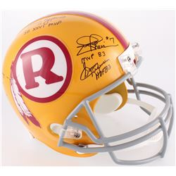 Redskins Full-Size Helmet Signed by (5) with Joe Theismann, Mark Rypien, Doug Williams, Sonny Jurgen