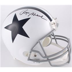 Roger Staubach Signed Cowboys Full-Size Throwback Helmet (JSA COA)