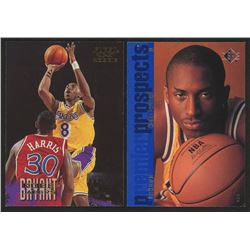 Lot of (2) Kobe Bryant Rookie Basketball Cards with 1996-97 Fleer #203 Kobe Bryant RC  1996-97 SP #1