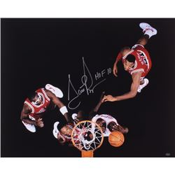 "Scottie Pippen Signed Bulls 16x20 Photo Inscribed ""HOF 10"" (Mead Chasky Hologram)"