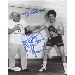 "Ray ""Boom Boom"" Mancini Signed 8x10 Photo Inscribed ""The Good Son"" (JSA COA)"
