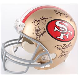 49ers Full-Size Helmet Signed by (16) with Joe Montana, Jerry Rice, Charles Haley, Ronnie Lott, Stev
