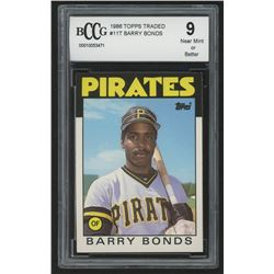 1986 Topps Traded #11T Barry Bonds XRC (BCCG 9)