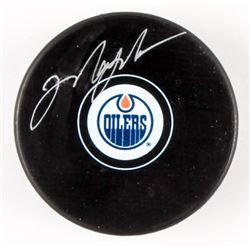 Mark Messier Signed Oilers Logo Hockey Puck (Mead Chasky Hologram)