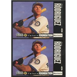 Lot of (2) 1994 Collector's Choice #647 Alex Rodriguez RC