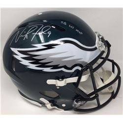 """Nick Foles Signed Eagles Super Bowl LII Authentic On-Field Full-Size Speed Helmet Inscribed """"SB LII"""