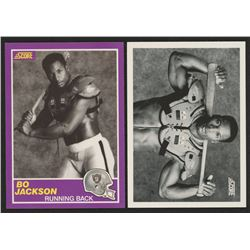 Lot of (2) Bo Jackson Football Cards with 1990 Score #697  1989 Score Supplemental #384S