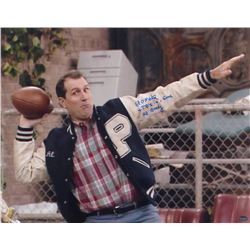 """Ed O'Neill Signed """"Married.... With Children"""" 16x20 Photo Inscribed """"4 T.D's In 1 Game""""  """"Al Bundy"""""""