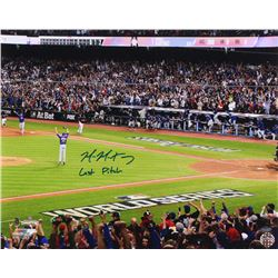 """Mike Montgomery Signed Cubs 16x20 Photo Inscribed """"Last Pitch"""" (Schwartz COA)"""