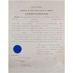 Calvin Coolidge Signed 15x19.25 Presidential Naval Appointment Letter with (2) Photos (JSA ALOA)