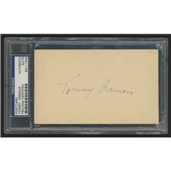 Tommy Armour Signed 3x5.5 Envelope (PSA Encapsulated)