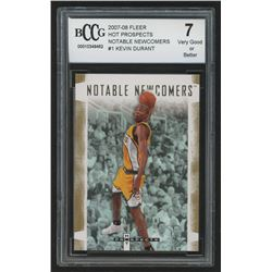 2007-08 Fleer Hot Prospects Notable Newcomers #1 Kevin Durant (BCCG 7)