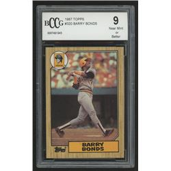 1987 Topps #320 Barry Bonds RC (BCCG 9)