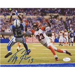 T. Y. Hilton Signed Colts 8x10 Photo (JSA COA)