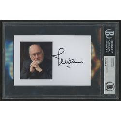 John Williams Signed 4x6 Photo Card (Beckett Encapsulated)