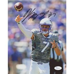 Kenny Hill Signed Texas Christian University 8x10 Photo (JSA COA)