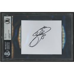 Emmitt Smith Signed 4.5x5 Cut (Beckett Encapsulated)