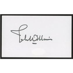 John Williams Signed 3x5 Idex Card (JSA COA)
