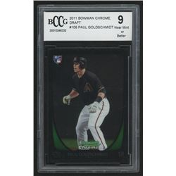 2011 Bowman Chrome Draft #108 Paul Goldschmidt RC (BCCG 9)