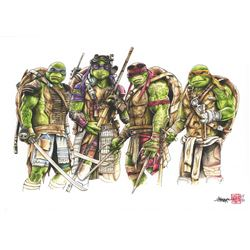 Thang Nguyen - Teenage Mutant Ninja Turtles 8x12 Signed Limited Edition Giclee on Fine Art Paper #/5
