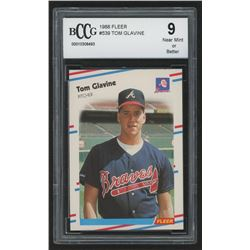 1988 Fleer #539 Tom Glavine RC (BCCG 9)