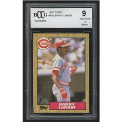 1987 Topps #648 Barry Larkin RC (BCCG 9)