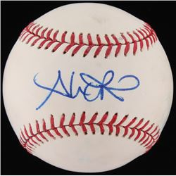 Alex Rios Signed OML Baseball (Fanatics Hologram  MLB Hologram)