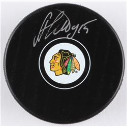 Artem Anisimov Signed Blackhawks Logo Hockey Puck (Beckett COA)