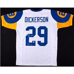 """Eric Dickerson Signed Rams Throwback Jersey Inscribed """"HOF 99"""" (JSA COA)"""