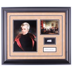 Andrew Jackson Custom Framed 19.5x23.5 Display with (1) Hand-Written Word From Letter (JSA LOA)