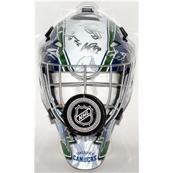 2017-18 Cunucks Full-Size Hockey Mask Team-Signed by (27) with Darren Archibald, Sven Baertschi, Bro