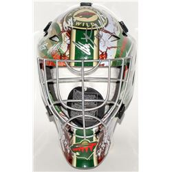 Wild Full-Size Hockey Mask Team-Signed by (20) with Jonas Brodin, Charlie Coyle, Matt Cullen, Devan