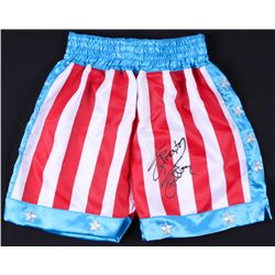 Sylvester Stallone Signed Boxing Trunks (Online Authentics COA)