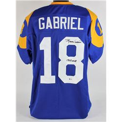 "Roman Gabriel Signed Rams Jersey Inscribed ""1969 MVP"" (Beckett COA)"