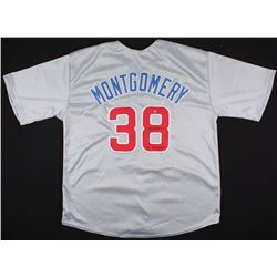 """Mike Montgomery Signed Cubs Jersey Inscribed """"16 WS Champs"""" (Schwartz COA)"""