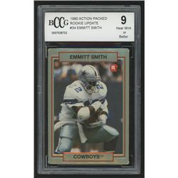 1990 Action Packed Rookie Update #34 Emmitt Smith RC (BCCG 9)