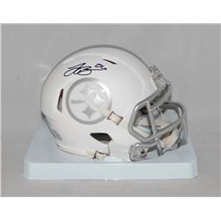 Le'Veon Bell Signed Steelers White ICE Speed Mini Helmet (JSA COA)