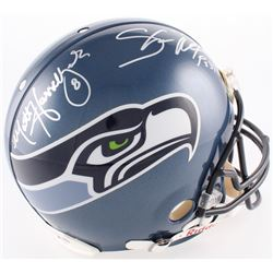 Shaun Alexander  Matt Hasselbeck Signed Seahawks Full-Size Authentic On-Field Helmet (Mounted Memori
