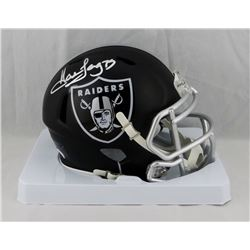 Howie Long Signed Raiders Blaze Speed Mini Helmet (JSA COA)