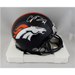 Champ Bailey Signed Broncos Mini Helmet (Beckett COA)