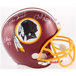 "Art Monk, Ricky Sanders  Gary Clark Signed Redskins Full-Size Helmet Inscribed ""The Posse"" (JSA COA)"
