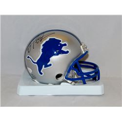 Barry Sanders Signed Lions Mini Helmet (JSA COA)