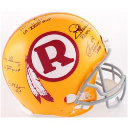 Redskins Throwback Full-Size Authentic On-Field Helmet Signed by (5) With Mark Rypien, Doug Williams