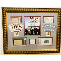 """The Rat Pack"" 23x29 Custom Framed Signature Cut Display Signed by (5) with Frank Sinatra, Dean Mart"