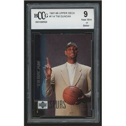 1997-98 Upper Deck #114 Tim Duncan RC (BCCG 9)