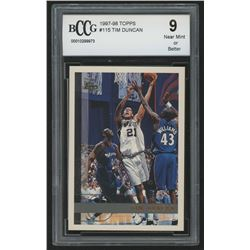 1997-98 Topps #115 Tim Duncan RC (BCCG 9)